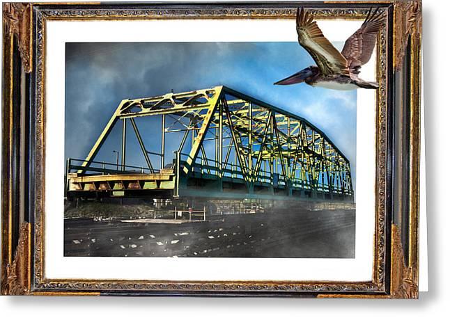Swing Bridge Greeting Card by Betsy C Knapp
