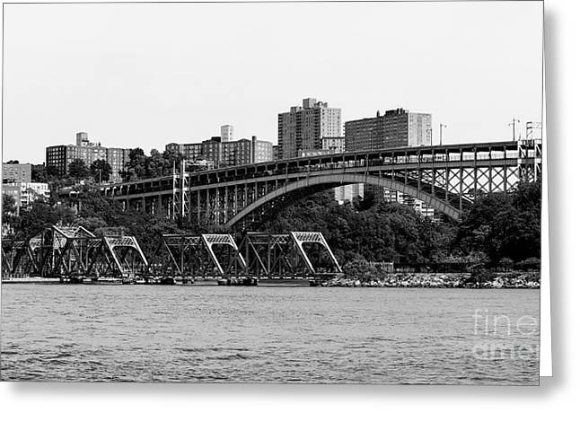 Swing Bridge In New York City Greeting Card