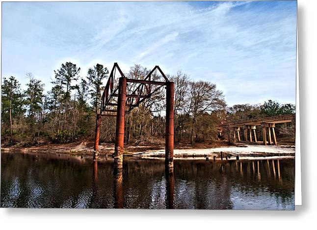 Greeting Card featuring the photograph Swing Set by Laura Ragland