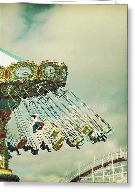 Swingin' - Santa Cruz Boardwalk Greeting Card