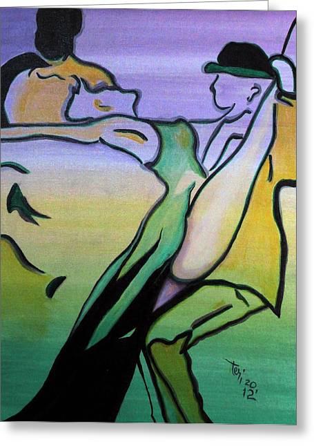Swingin Greeting Card by Teri Howard Stewart