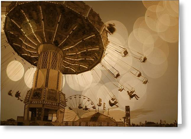 Swinging Greeting Card by Gothicrow Images