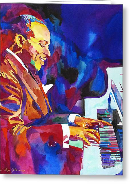 Swinging With Count Basie Greeting Card by David Lloyd Glover