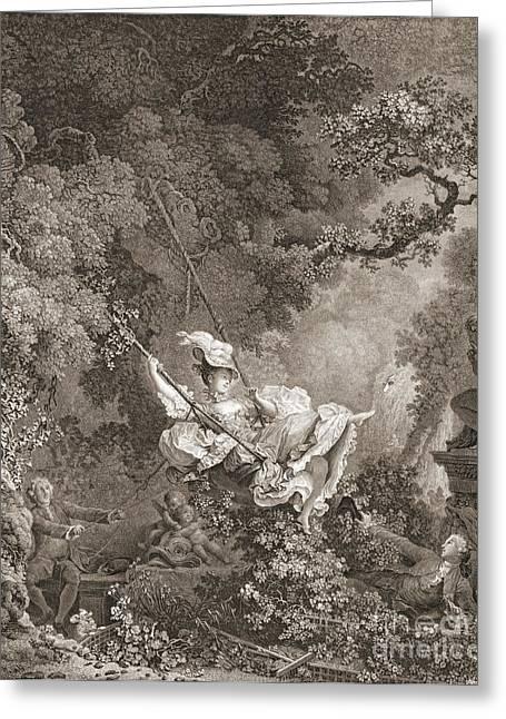 Swings Happy Hazards 1868 Greeting Card by Padre Art