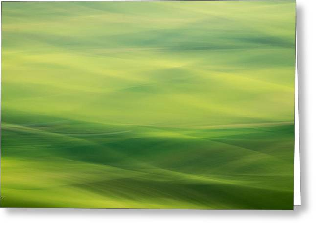 Swipe Of Palouse Rolling Hills Greeting Card