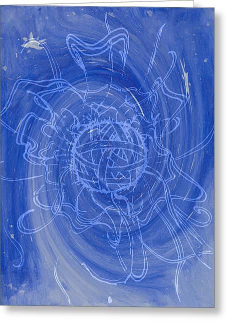 Swirl Greeting Card by Betzy Mena