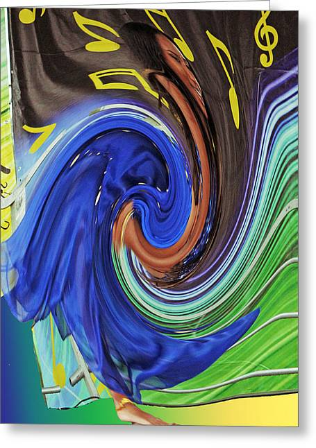 Swirl Dancer Greeting Card