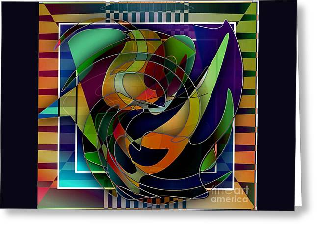 Swirl Greeting Card by Iris Gelbart