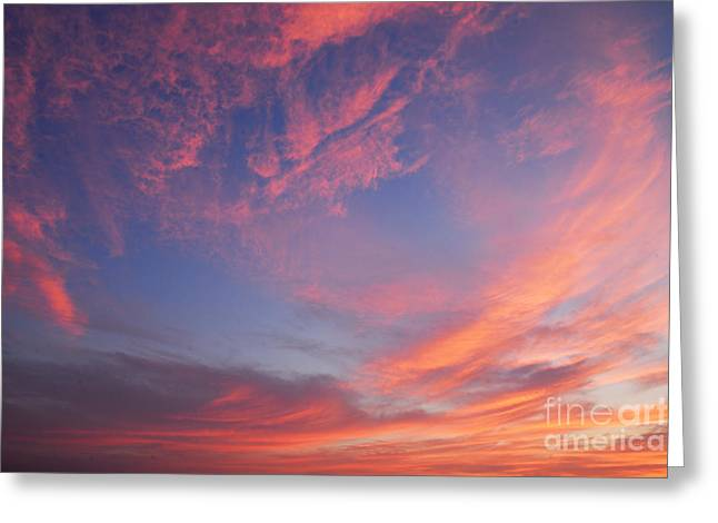 Swirl Of Clouds At Dawn Greeting Card by Larry Ricker