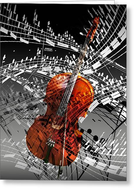 Swirl Of Music Greeting Card by Randall Nyhof