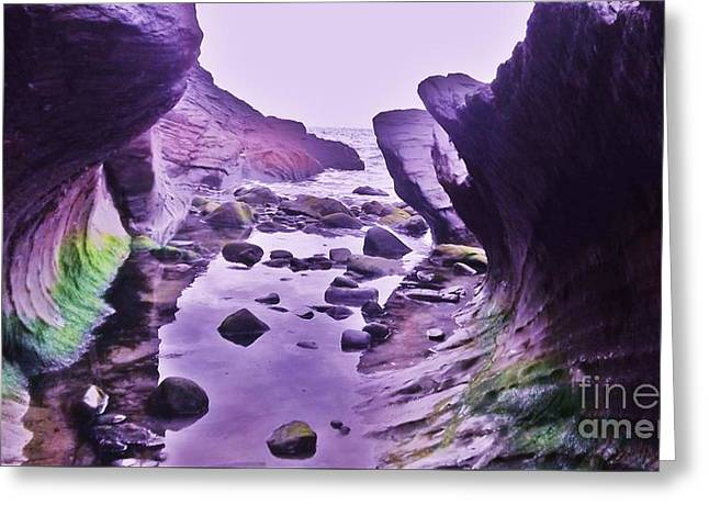 Greeting Card featuring the photograph Swirl Rocks 2 by John Williams