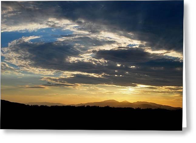 Swirl Sky Landscape Greeting Card by Matt Harang