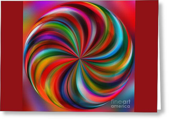 Swirling Color By Kaye Menner Greeting Card by Kaye Menner