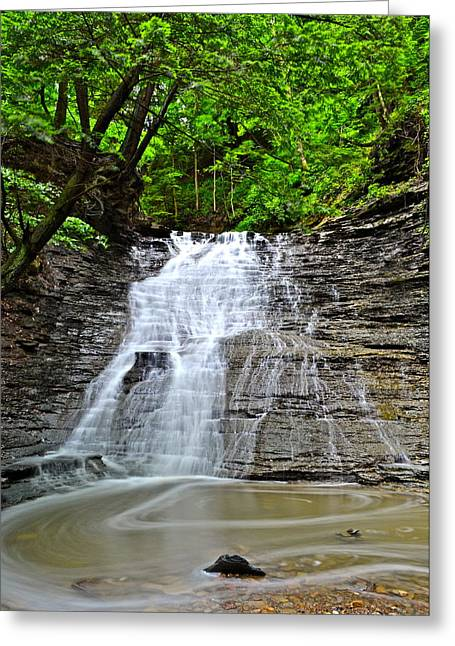 Swirling Falls Greeting Card