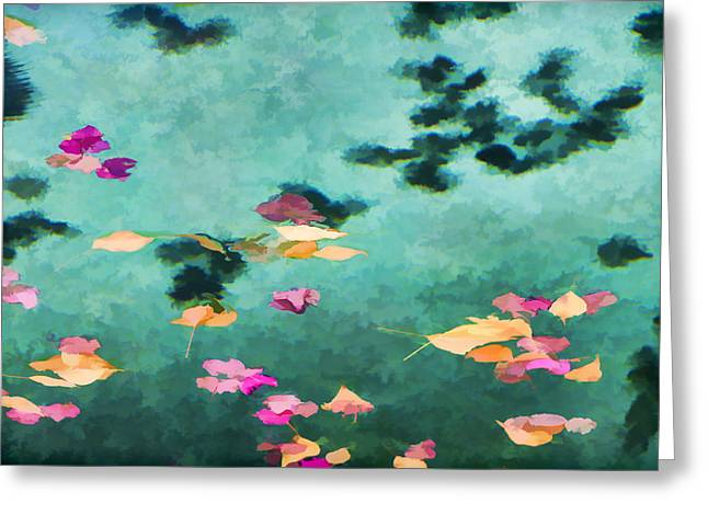 Swirling Leaves And Petals 6 Greeting Card