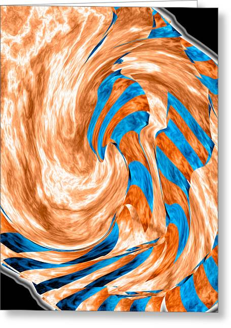 Swirling Torrent Greeting Card by Christopher Gaston
