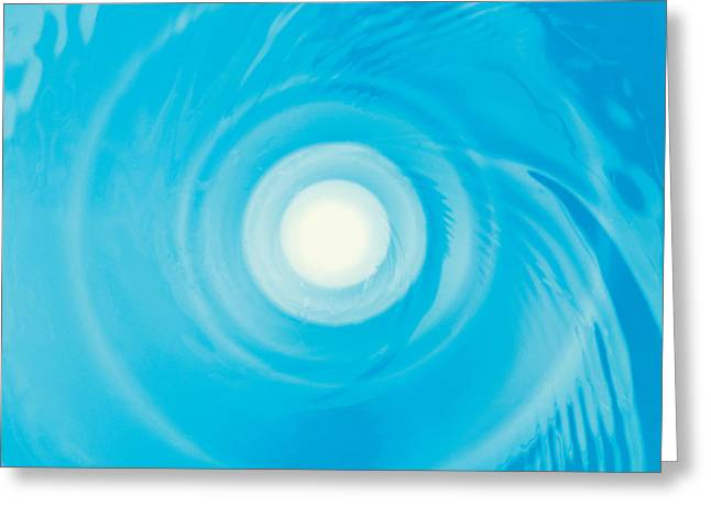 Swirling Water In Blue, Full Frame Greeting Card
