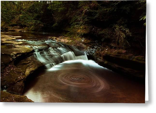 Swirling Water Greeting Card