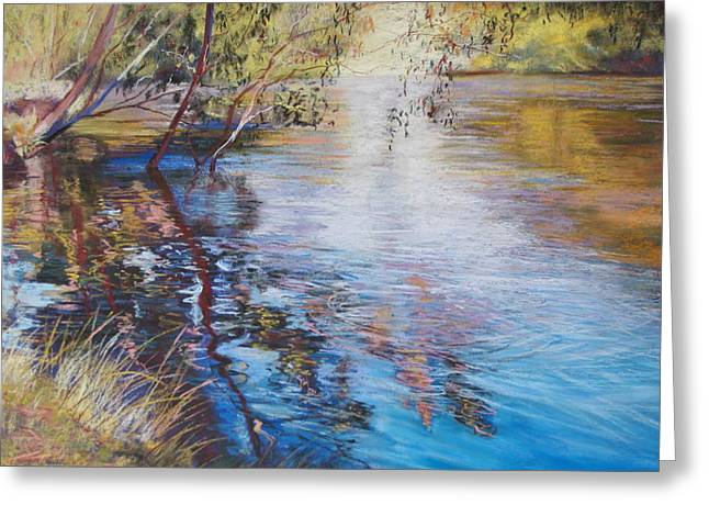 Swirls And Ripples - Goulburn River Greeting Card by Lynda Robinson