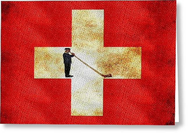 Swiss Alpine Greeting Card by Jared Johnson