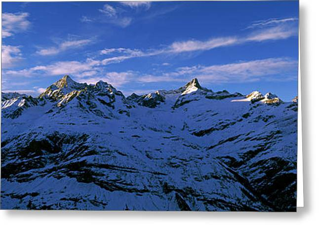 Swiss Alps From Gornergrat, Switzerland Greeting Card by Panoramic Images
