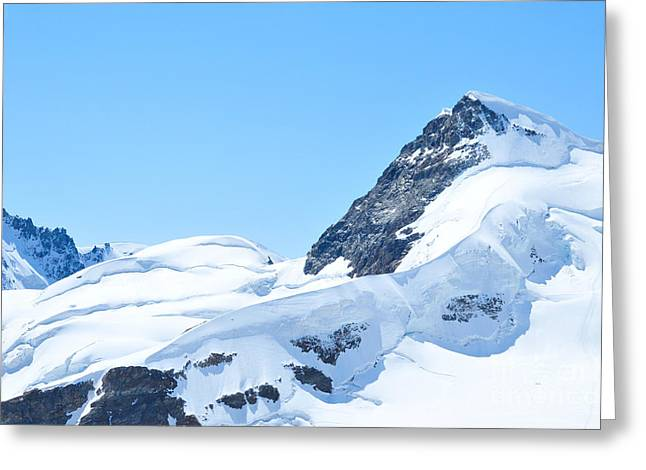 Greeting Card featuring the photograph Swiss Alps by Joe  Ng