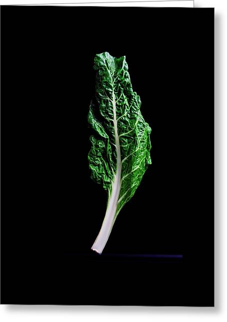 Swiss Chard Greeting Card by Romulo Yanes