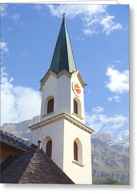 Swiss Church Tower Greeting Card