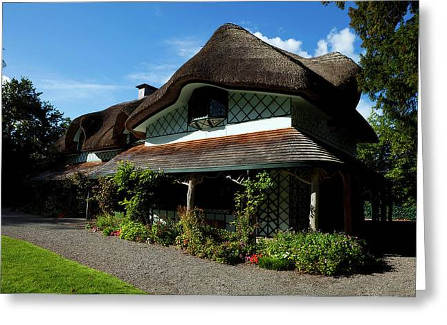 Swiss Cottage - Cottage Orness Built Greeting Card by Panoramic Images
