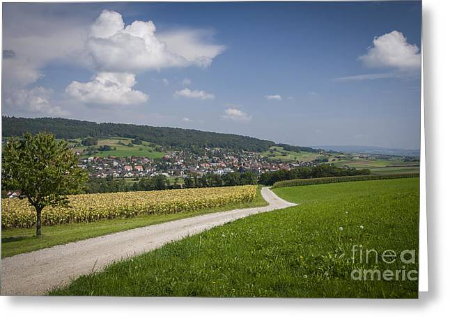Swiss Country Road Greeting Card by Ning Mosberger-Tang
