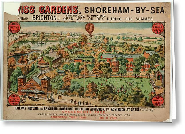 Swiss Gardens Greeting Card by British Library