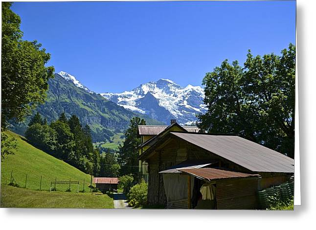 Swiss Hike Greeting Card by Marty  Cobcroft