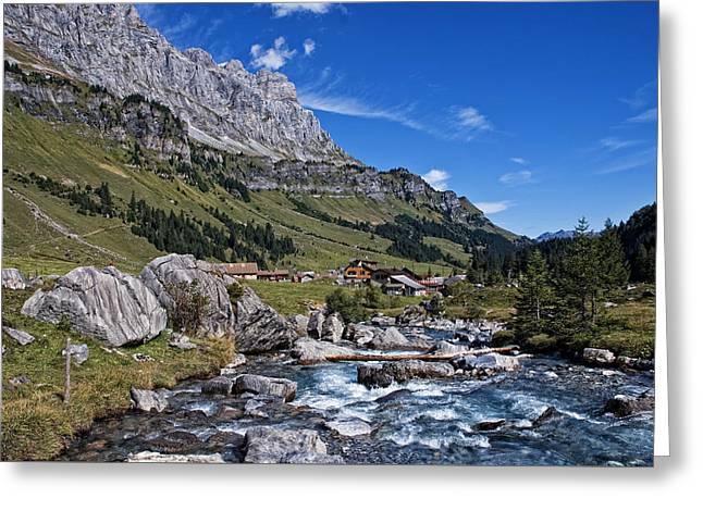 Swiss Mountains Greeting Card by Joachim G Pinkawa