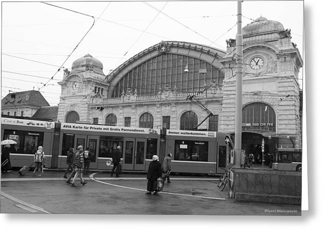 Swiss Railway Station Greeting Card