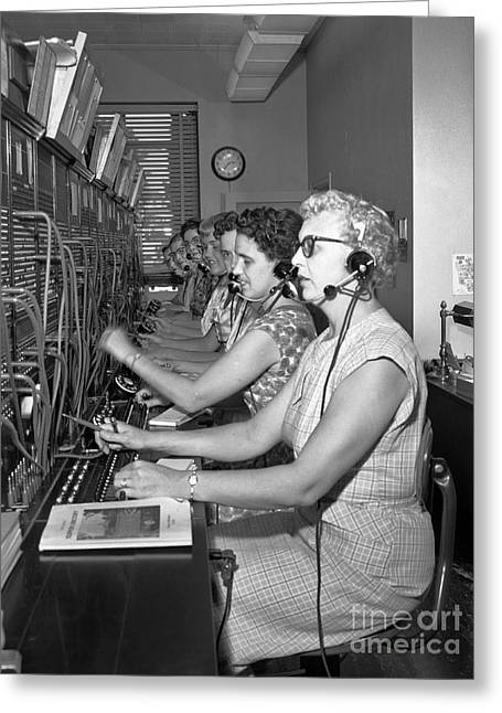 Switchboard Operators Greeting Card
