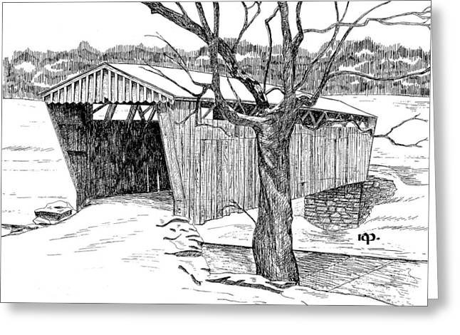 Switzer Covered Bridge Greeting Card by Robert Powell