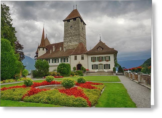 Switzerland, Bern Canton, Spiez, Spiez Greeting Card