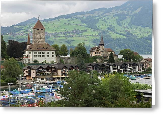 Switzerland, Bern Canton, Spiez, View Greeting Card