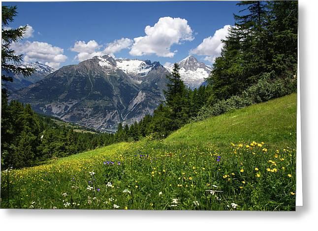 Switzerland Bietschhorn Greeting Card