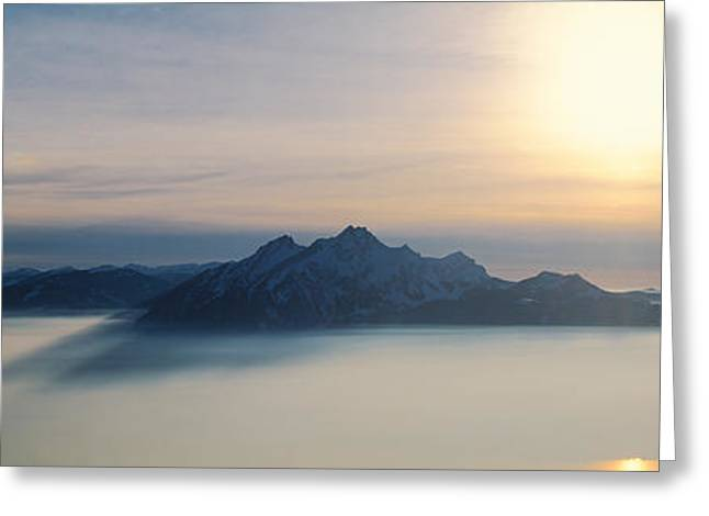 Switzerland, Luzern, Pilatus Mountain Greeting Card by Panoramic Images