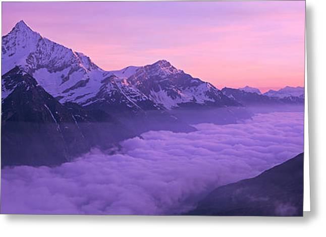 Switzerland, Swiss Alps, Aerial View Greeting Card by Panoramic Images