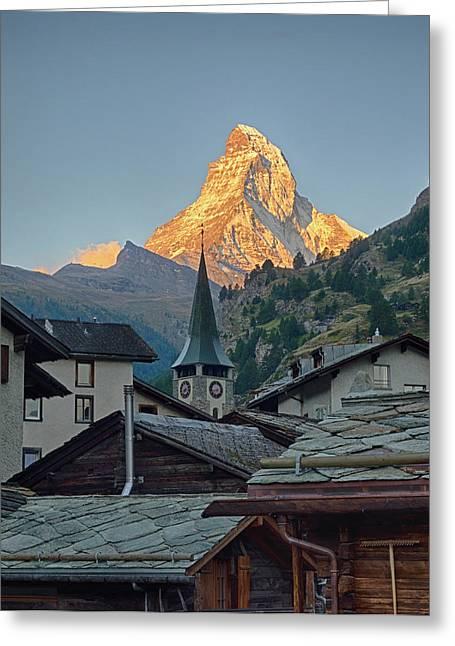 Switzerland, Zermatt, The Matterhorn Greeting Card