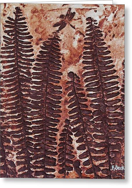 Sword Fern Fossil Greeting Card
