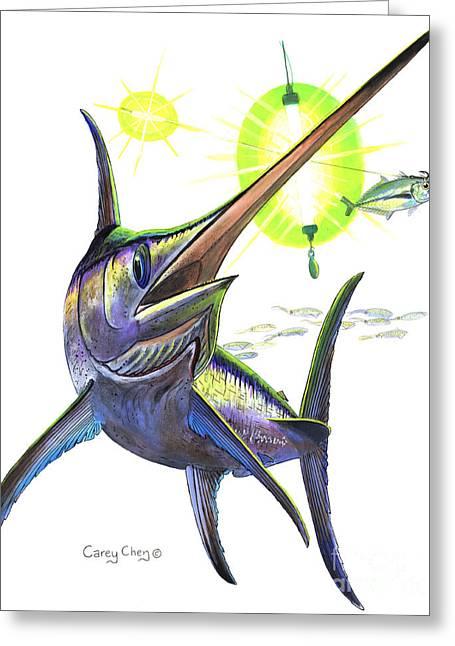 Swordfishing Greeting Card