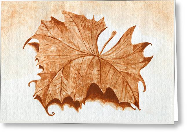Sycamore #1 Oklahoma Red Dirt Artwork Tm Greeting Card by Tanya Provines
