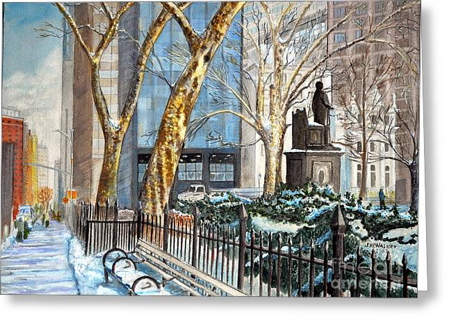 Sycamores Madison Square Park Greeting Card