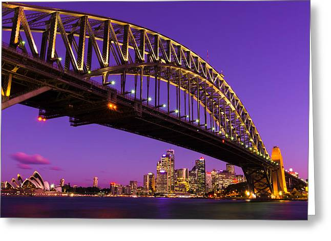 Sydney At Night Greeting Card by Andre Distel