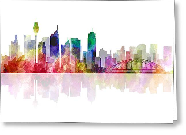 Sydney Australia Skyline 2 Greeting Card