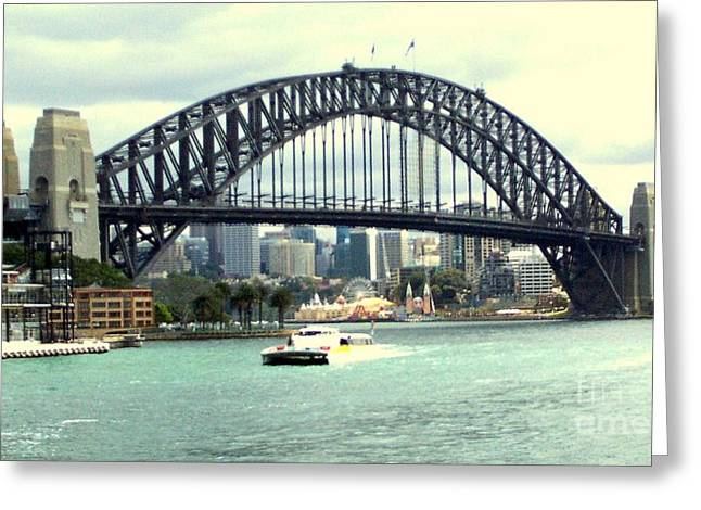 Sydney Bridge Greeting Card by John Potts