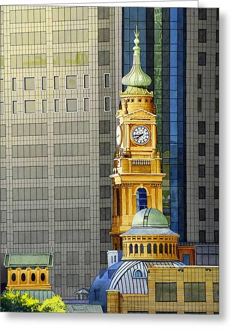 Sydney Clock Tower Greeting Card